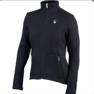 Spyder Full-Zip Cable Sweater Jacket Small